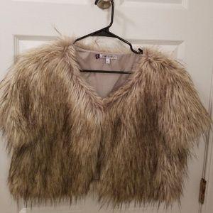 Jennifer Lopez Faux Fur Vest